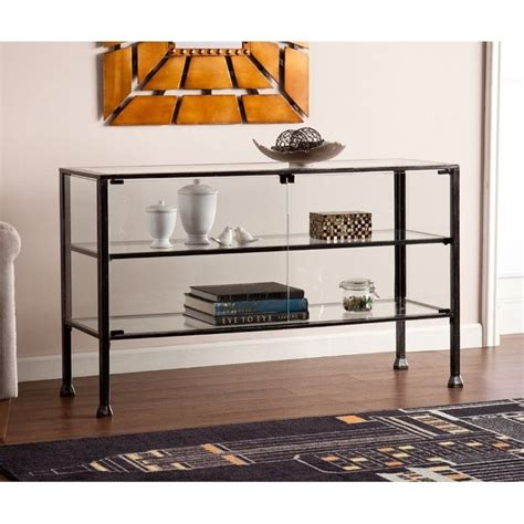 southern enterprises black terrarium end table hd865263 the home depot southern enterprises terrarium display console table in