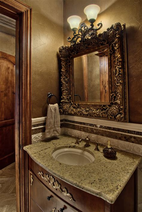 tuscan bathroom mirrors c b i d home decor and design the powder room small