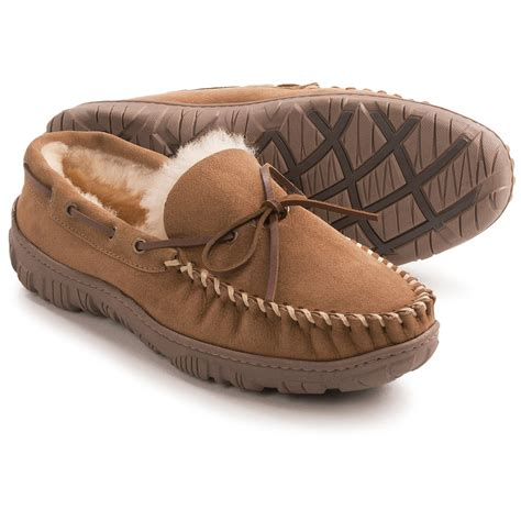 shearling slippers for clarks moc shearling slippers for save 62