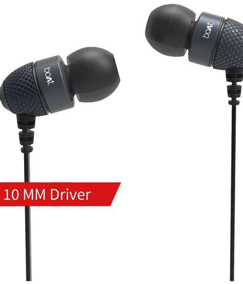 buy boat earphones online buy boat bassheads 200 in ear wired earphones with mic
