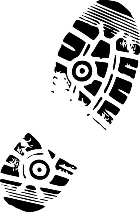 running shoe print vector shoe print boot 183 free vector graphic on pixabay