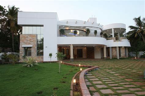 home exterior design photos in tamilnadu the house of curves thopputhurai tamilnadu designed by
