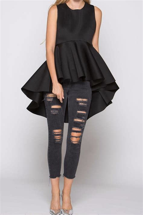 Hi Low Top Leging why dress high low peplum top shoptiques