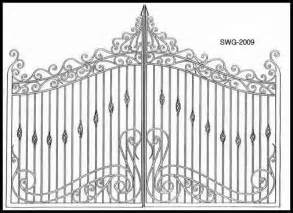 gate designs wrought iron entry gate