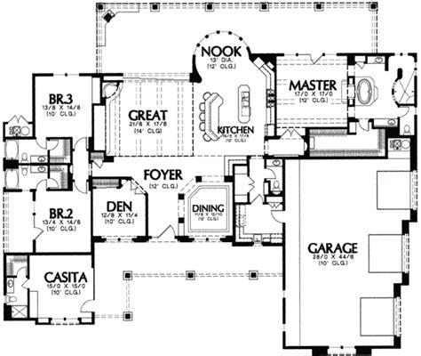 casita house plans verandas and casita 16308md 1st floor master suite adobe butler walk in pantry cad