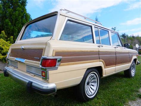 Jeep Wagoneer Wood Trim 1983 Jeep Wagoneer Limited Rear View Classic Cars Today