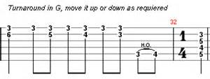 turnarounds in open g blues turnarounds