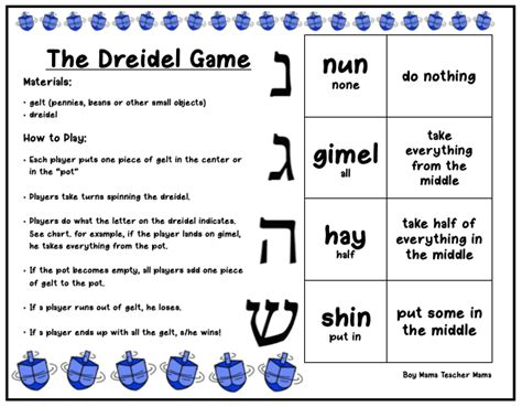 printable directions on how to play dreidel the missing letters a dreidel story plus free printable
