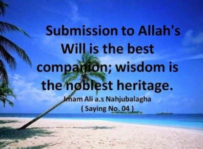 hazrat ali quotes: submission to allah's will is the best