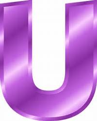 Alphabet Letter U  Color Variation B