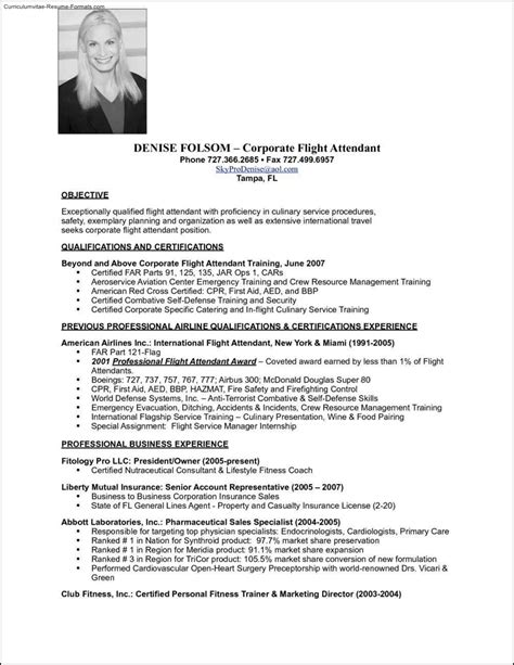 flight attendant resume sles flight attendant resume template free sles exles