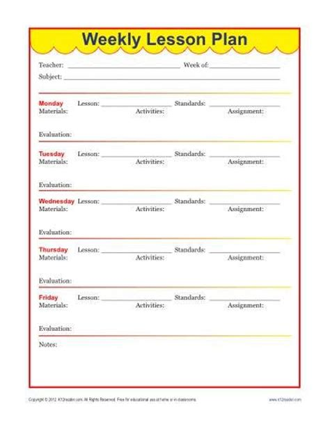 week lesson plan template weekly detailed lesson plan template elementary