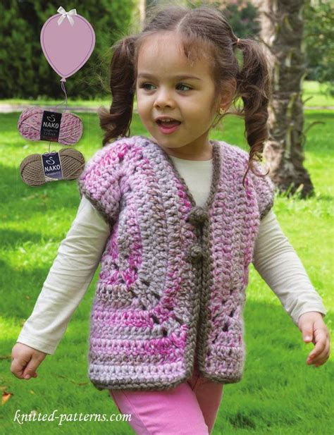 free pattern vest child girl s vest crochet pattern free baby items pinterest