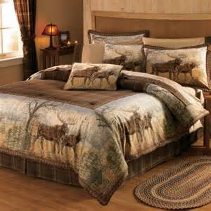 Cabela S Bedding Sets cabela s grand river lodge hautman bedding comforter set moose