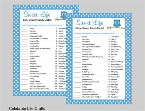 How Sweet It Is Baby Shower Answers by Sweet Baby Shower With Answer Key Printable
