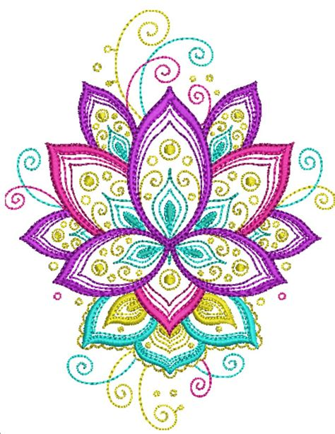 Lovely Lotus   Machine Embroidery Designs By Sew Swell