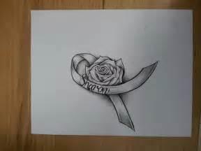 cancer rose ribbon by magnasicparvis on deviantart