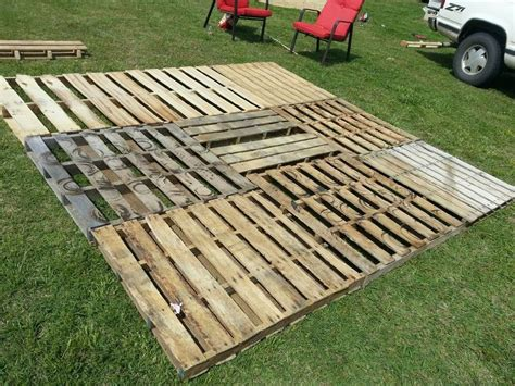 pallet patio part 2 squaring it up and getting it level