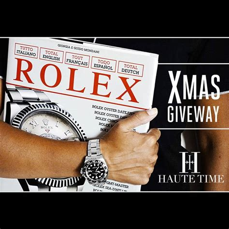 Rolex Giveaway - christmas giveaway total rolex book