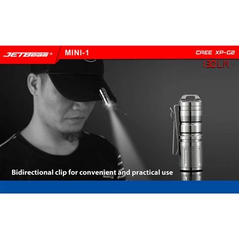 jetbeam mini 1 ti tiny usb rechargeable light senter led cree xp g2 130 lumens silver