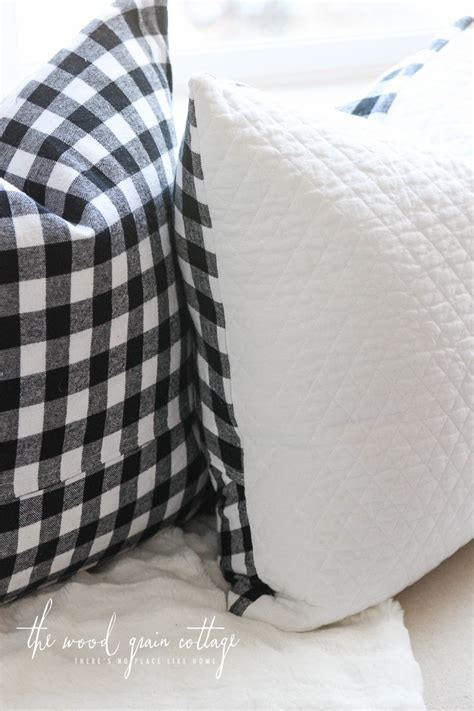 Black & White Buffalo Check Pillow   The Wood Grain