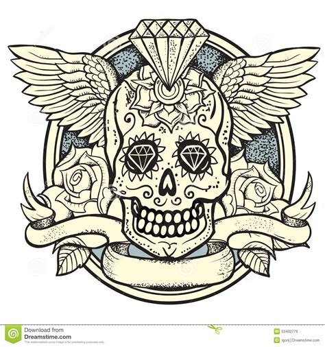 sugar skull stock vector image 53402779