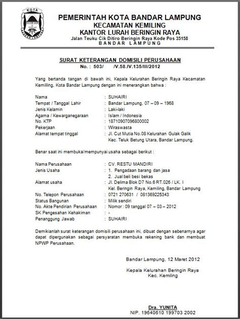 surat resmi  tidak resmi  bahasa inggris