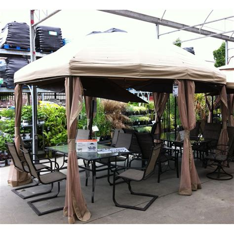 Backyard Gazebos Home Depot by Home Depot Boat Shaped 13 X 10 Gazebo Replacement Canopy