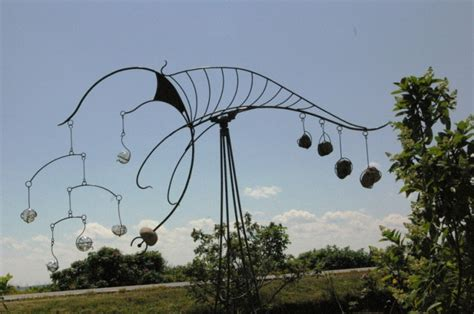 wind art wingnut enterprizes uses blacksmithing and glassblowing to