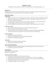 resume template cashier sle resume