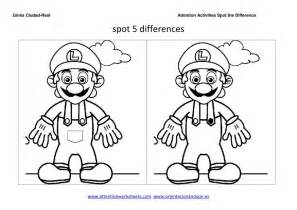 Spot the differences and coloring