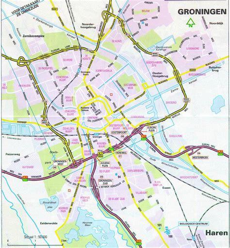 netherlands map groningen map of groningen