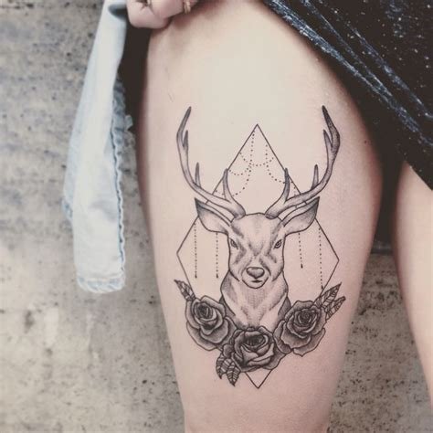 antler tattoo behind ear meaning 1000 ideas about deer tattoo on pinterest deer drawing