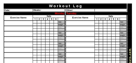 Best Free Printable Workout Logs Silicone Wedding Band | free printable workout log free download aashe