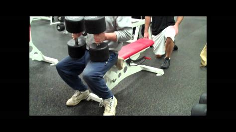 60 lb dumbbell bench press 120 lb dumbbell bench press by 69 year old mike brown