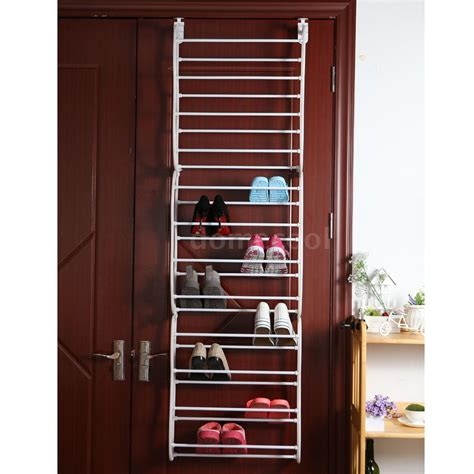 36 pair over the door hanging shoe rack shelf organizer 36 pair 12 tier over the door hanging shoe storage