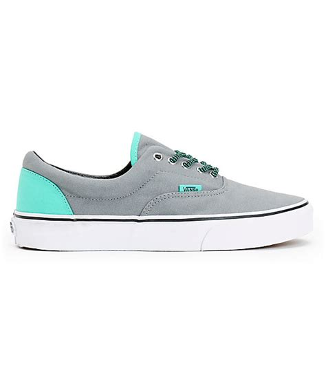Vans Era Grey Green vans era grey electric green canvas skate shoes zumiez