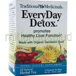 Traditional Medicinal Tea Detox by Everyday Detox Herbal Tea 16 Pckts Traditional Medicinals