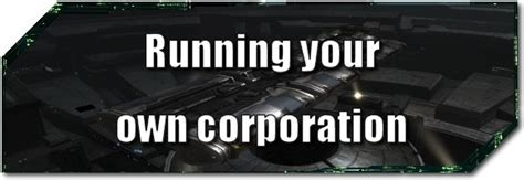 Run Your Own Corporation evolved running your own corporation