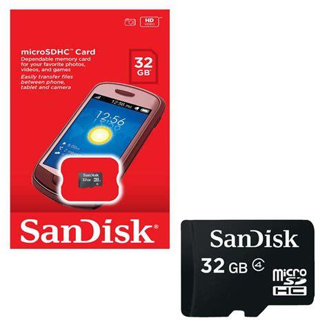 Micro Sdhc Sandisk sandisk mobile micro sdhc memory card class 4 32gb 7dayshop