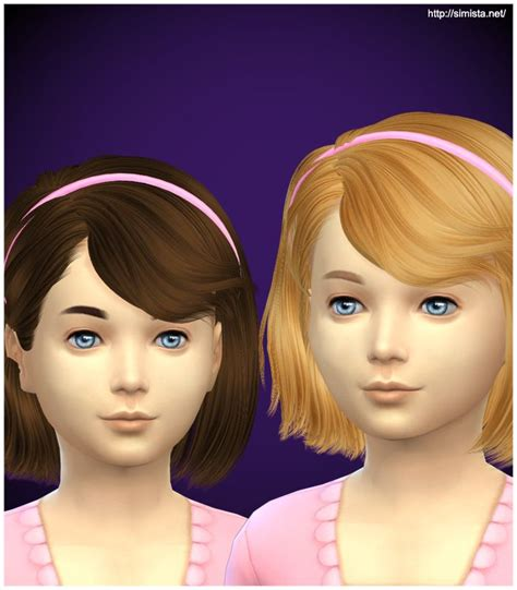 childs hairstyles sims 4 simista ela 4g hairstyle retextured sims 4 hairs http