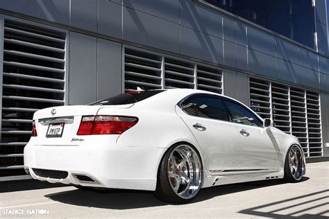 lexus ls stance lexus ls 460 x job design body kit x vip modular wheels