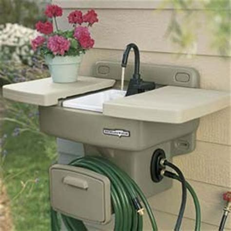 outdoor sink no plumbing required how cool is this outdoor sink no plumbing