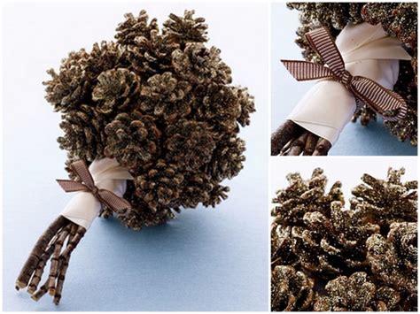 co de fiori scarpe diy pine cone bouquet da sposa bouquet da sposa inverno