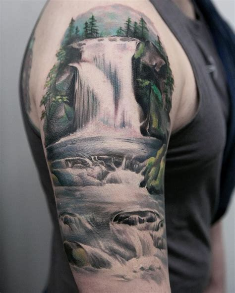 banger tattoo joice wang nature waterfalls tattoos