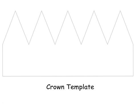 crown template birthday plans pinterest