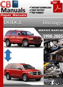 dodge durango 2001 factory service repair manual pdf zip download dodge durango 2005 factory service manual pdf factory manuals
