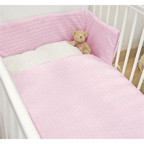 Pink Cot Bumper And Quilt Sets by Kiddies Kingdom Marshmallow Cot Cotbed Luxury Quilt