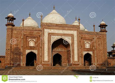 masjid entrance design entrance to a mosque masjid by taj mahal india royalty