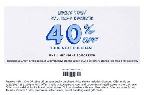 coupons for lucky brand store